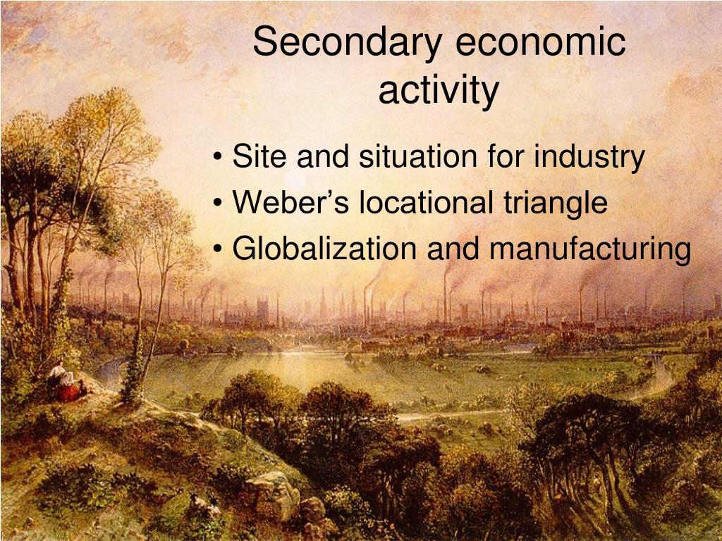 secondary economic activity l.