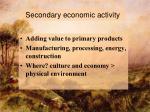 secondary economic activity2