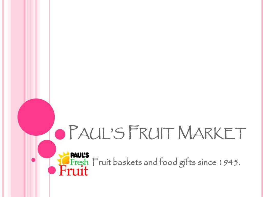 paul s fruit market l.