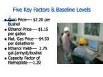 five key factors baseline levels