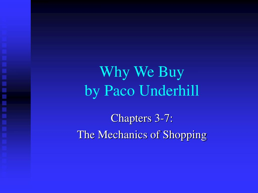 why we buy by paco underhill l.