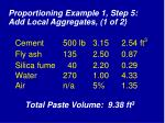 proportioning example 1 step 5 add local aggregates 1 of 2