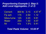 proportioning example 2 step 5 add local aggregates 1 of 2