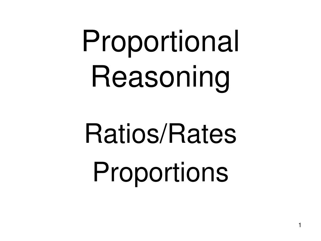 proportional reasoning l.