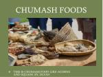 chumash foods