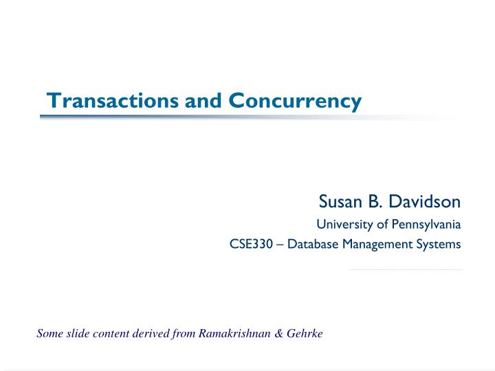 transactions and concurrency n.