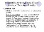 suggestions for berrypicking search interface technique specific17