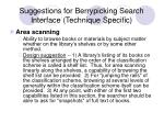 suggestions for berrypicking search interface technique specific18