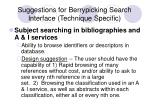 suggestions for berrypicking search interface technique specific19