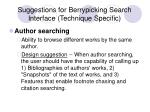 suggestions for berrypicking search interface technique specific20