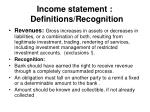 income statement definitions recognition