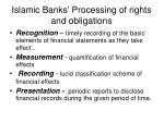 islamic banks processing of rights and obligations