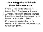 main categories of islamic financial statements