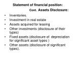 statement of financial position cont assets disclosure