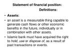 statement of financial position definitions