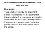 statement of sources and uses of funds in the zakah and charity fund41