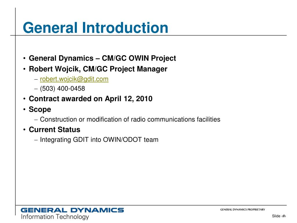PPT - OWIN Project OAME Presentation June 11, 2010 Bob