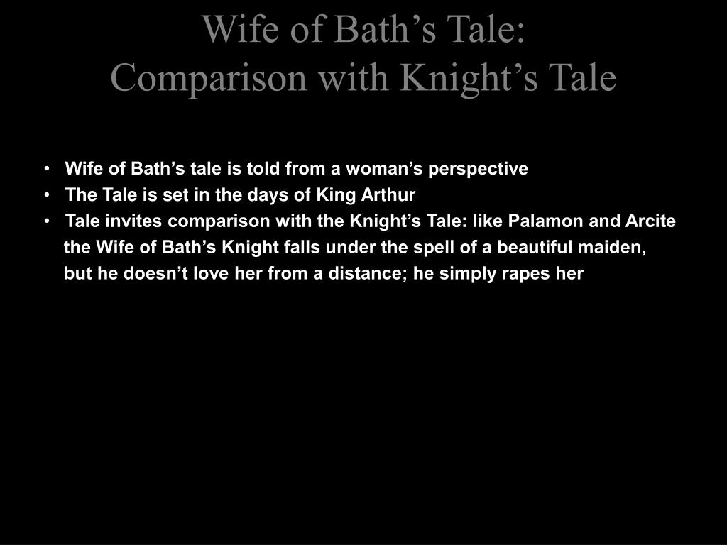 contrast and comparison of the knight and the wife of bath