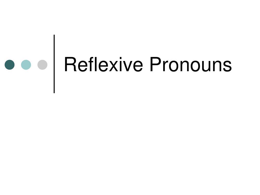 reflexive pronouns l.