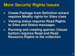 more security rights issues