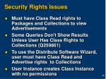 security rights issues