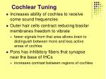 cochlear tuning