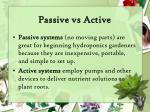 passive vs active