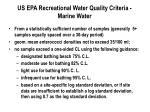 us epa recreational water quality criteria marine water