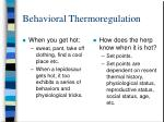 behavioral thermoregulation31