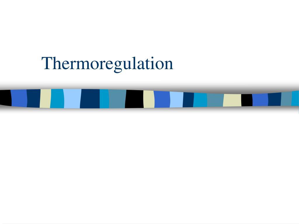 thermoregulation l.