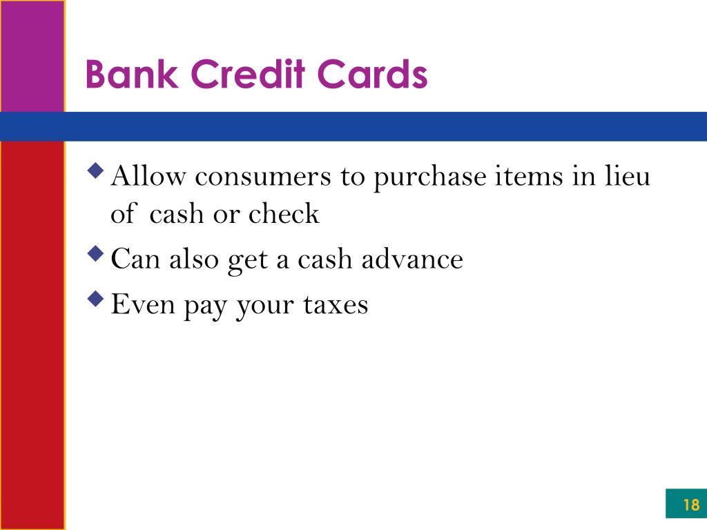 Bank Credit Cards