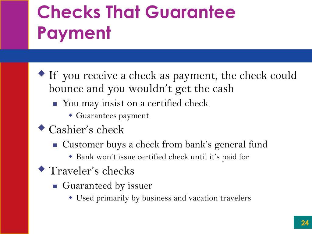 Checks That Guarantee Payment