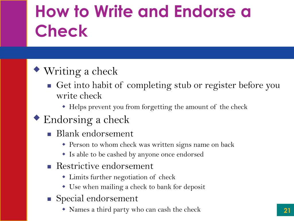 How to Write and Endorse a Check