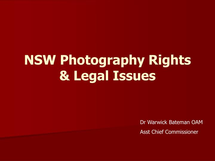 nsw photography rights legal issues n.