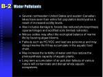 water pollutants44