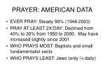 prayer american data