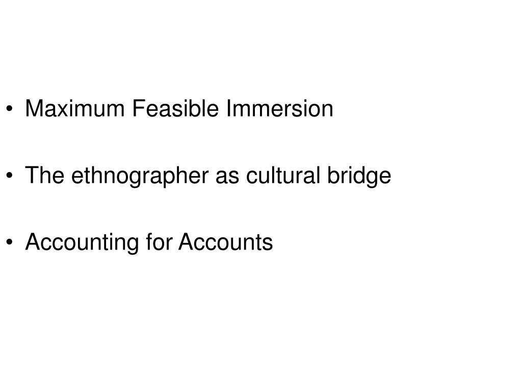 Maximum Feasible Immersion