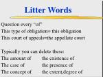 litter words