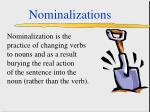 nominalizations