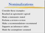 nominalizations46