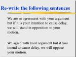 re write the following sentences49