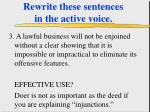 rewrite these sentences in the active voice42