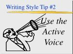writing style tip 2