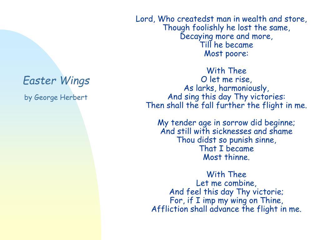 easter wings george herbert essay