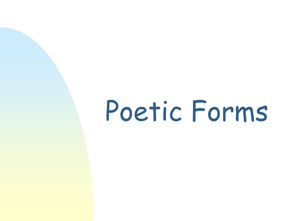 poetic forms l.