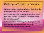 challenge of service to everyone