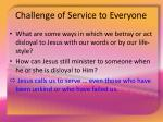 challenge of service to everyone18