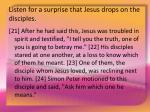listen for a surprise that jesus drops on the disciples15