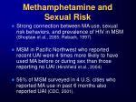 methamphetamine and sexual risk