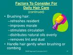 factors to consider for daily hair care continued61